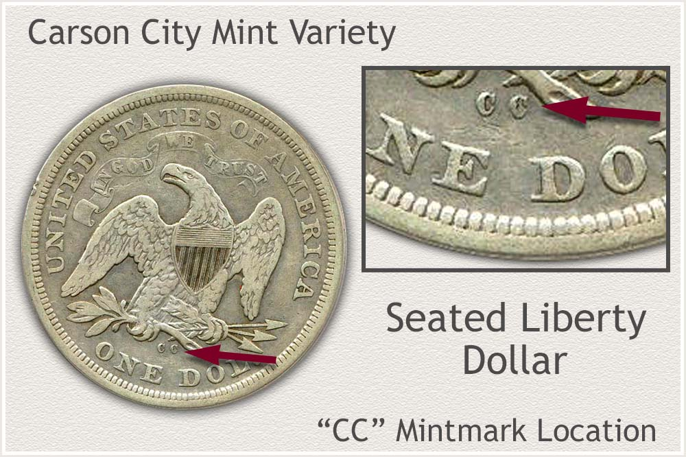 Carson City Mint Seated Liberty Silver Dollar