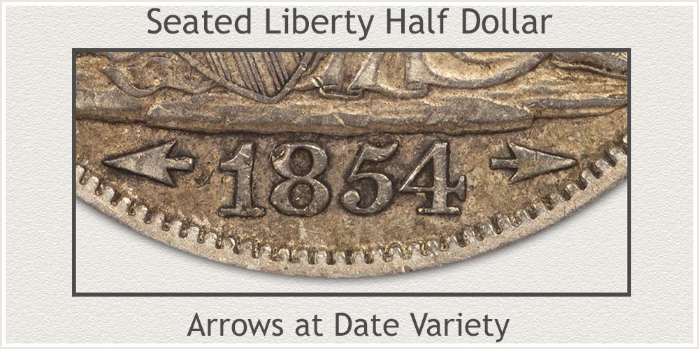 Seated Liberty Half Dollar With Arrows At Date