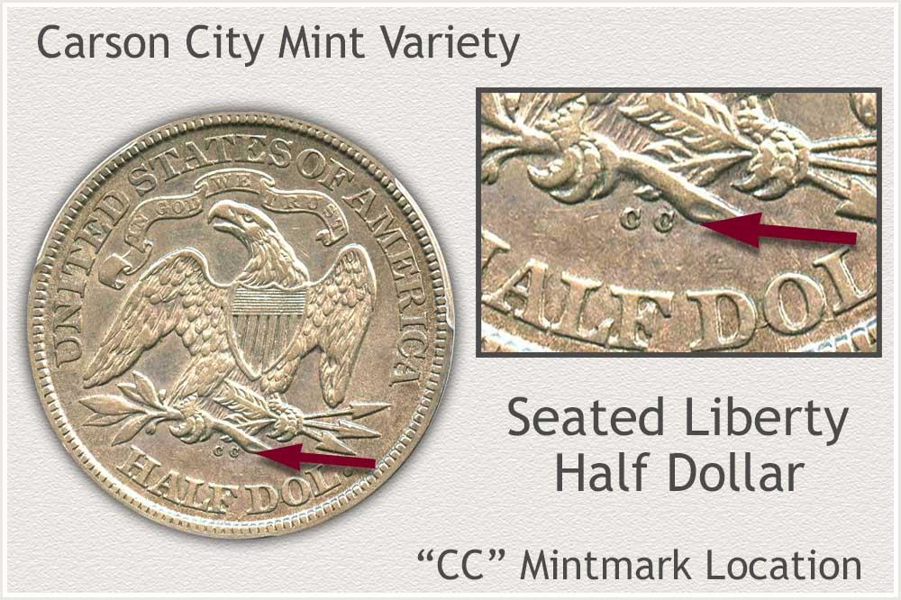 Carson City Seated Liberty Half Dollar
