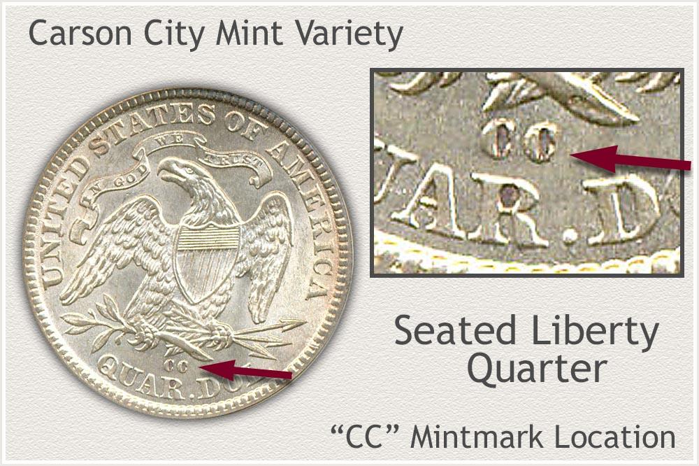 Carson City Mint Seated Liberty Quarter