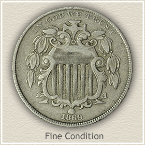 Shield Nickel Fine Condition