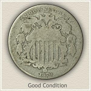 Shield Nickel Good Condition