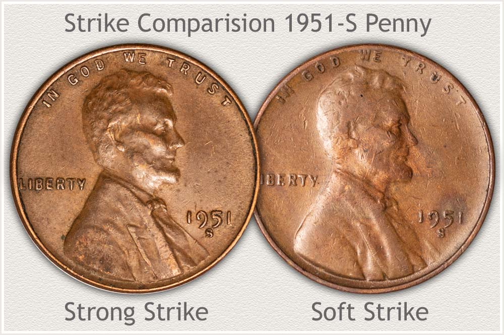 Comparing Strike Quality on 1951-S Pennies