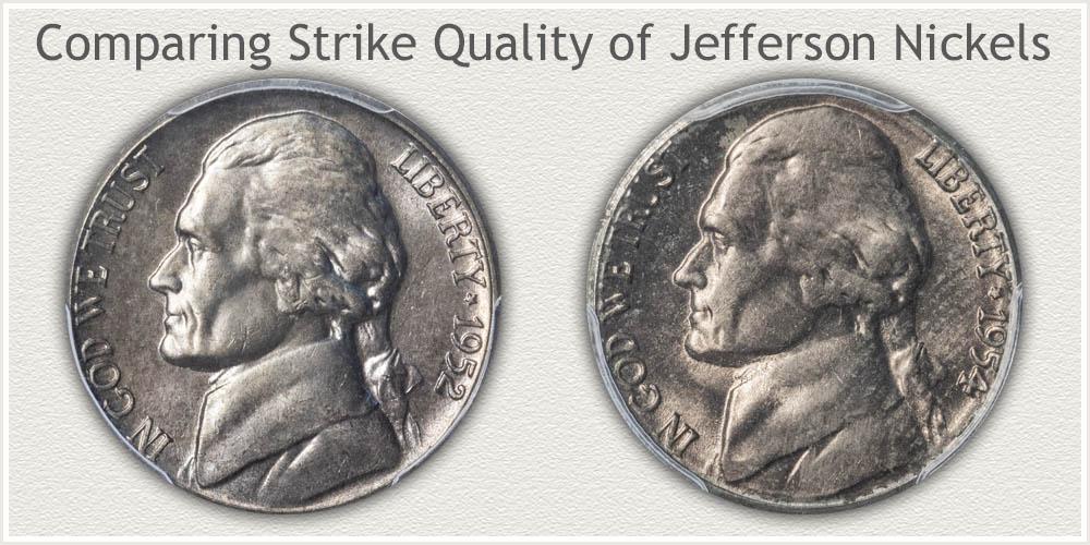 Soft Strike and Bold Strike Jefferson Nickels