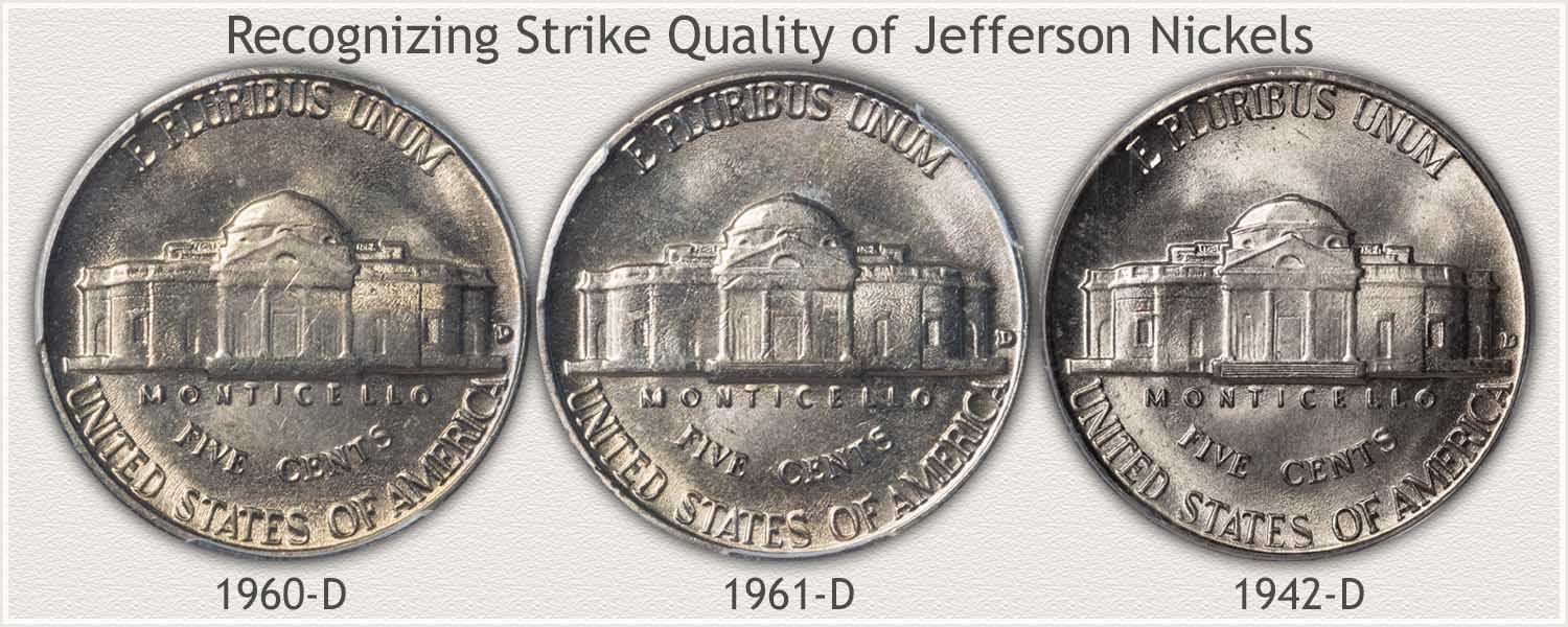 Comparing Strike Quality of the Reverse of Jefferson Nickels