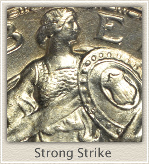 Strong Strike Standing Liberty Quarter