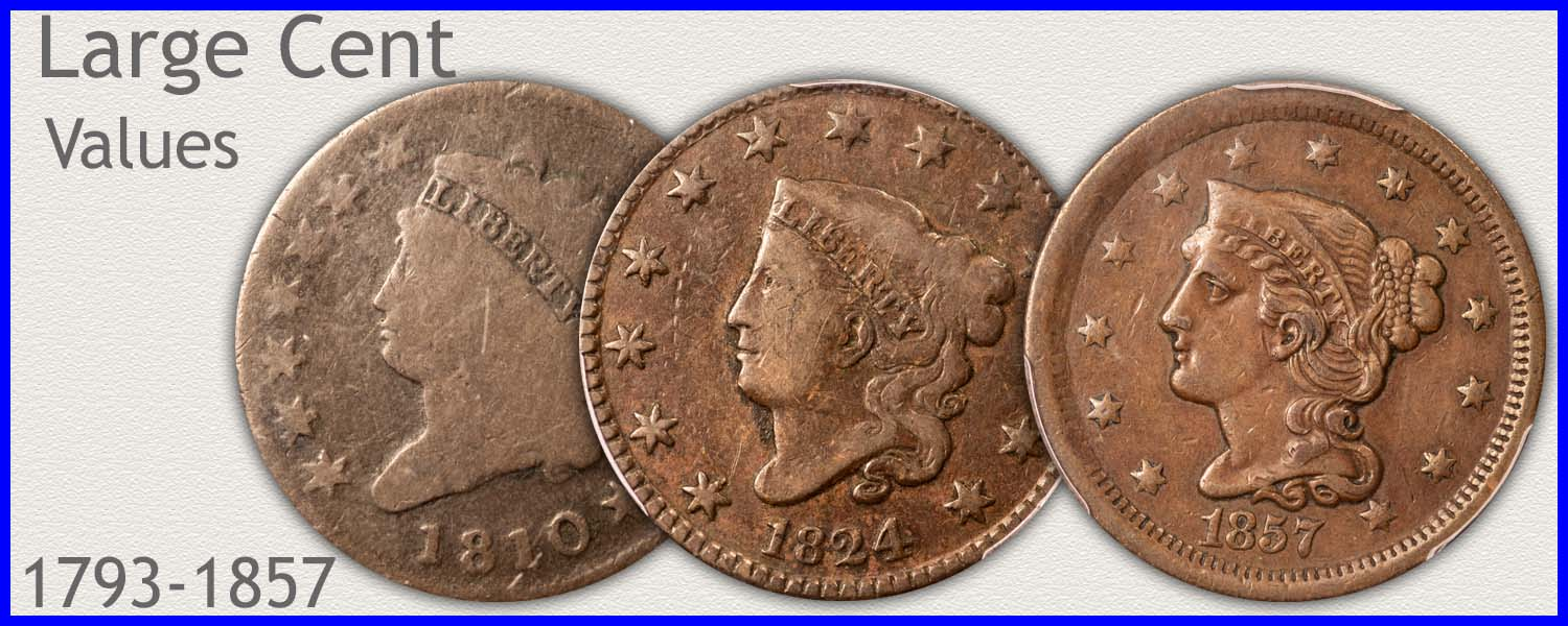 Go to...  American Large Cent Values