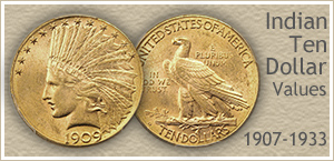 Go to...  Indian Ten Dollar Gold Coin Values