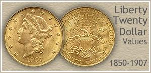 Go to...  Liberty Twenty Dollar Gold Coin Values