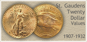 Go to...  Saint Gaudens Gold Coin Values
