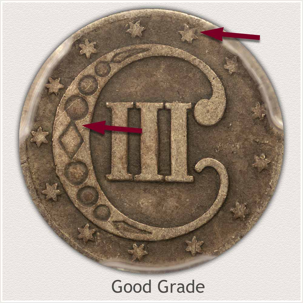 Reverse View: Good Grade Three Cent Silver