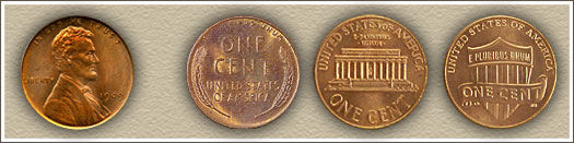 Major Design Type Set Lincoln Pennies