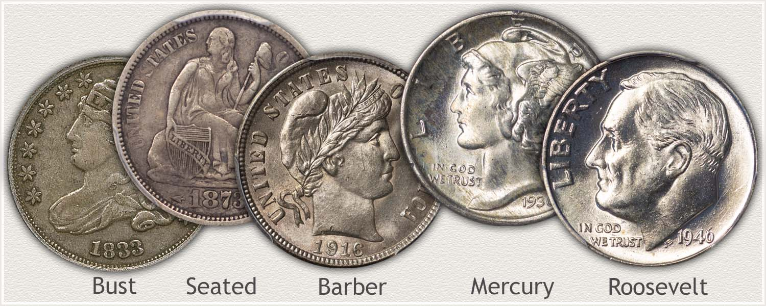 Examples of US Dimes