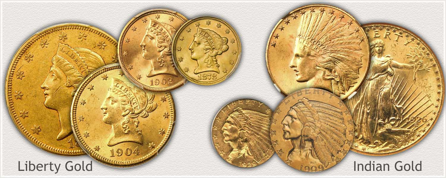 Examples of US Gold Coins