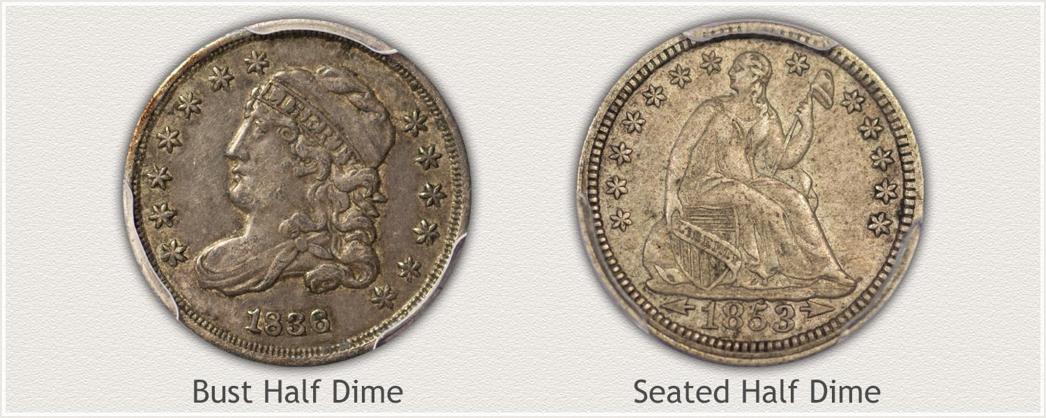 Examples of US Half Dimes