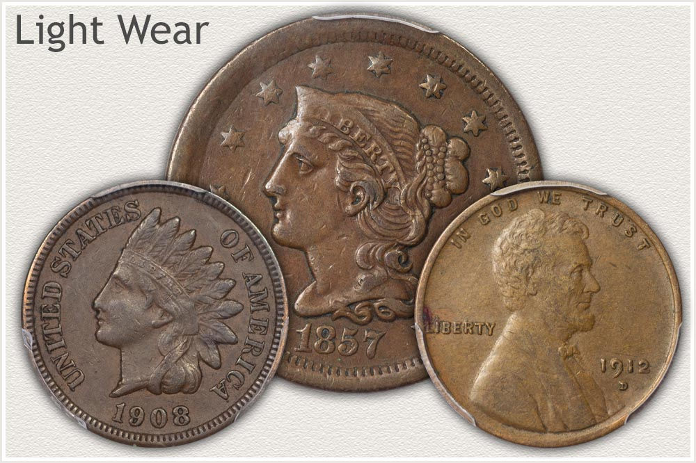 US Pennies in Extremely Fine Grade
