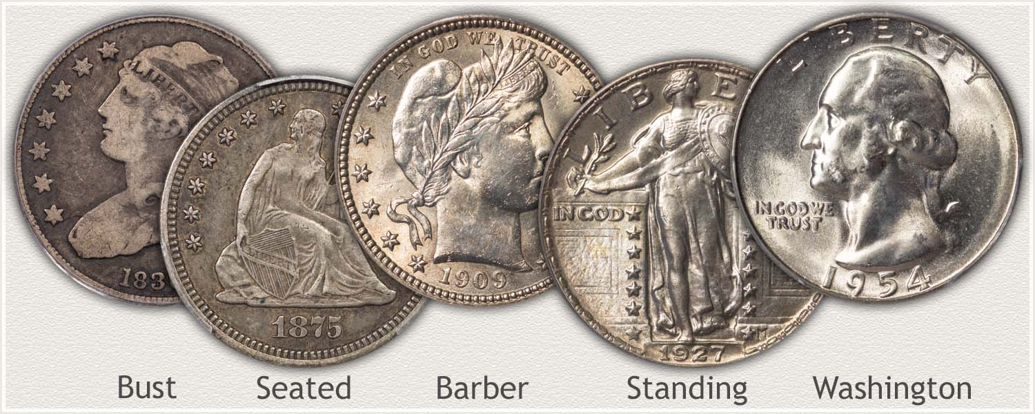 Examples of US Quarter Dollars