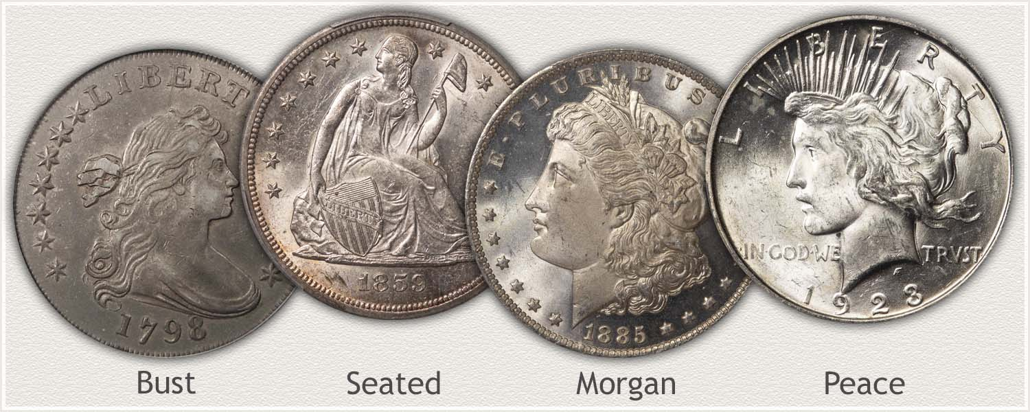 Examples of US Silver Dollars