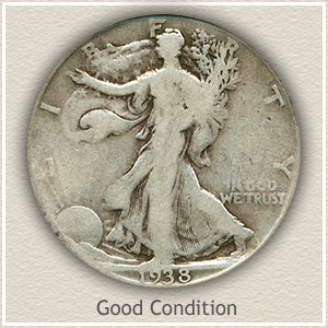 Walking Liberty Half Dollar Good Condition