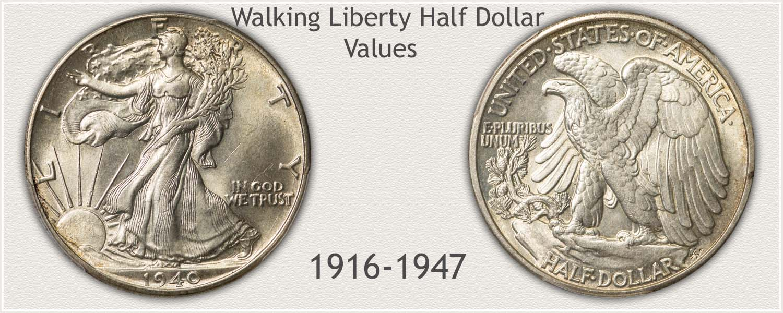 Uncirculated Walking Liberty Half Dollar