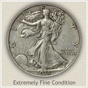 Walking Liberty Half Dollar Extremely Fine Condition