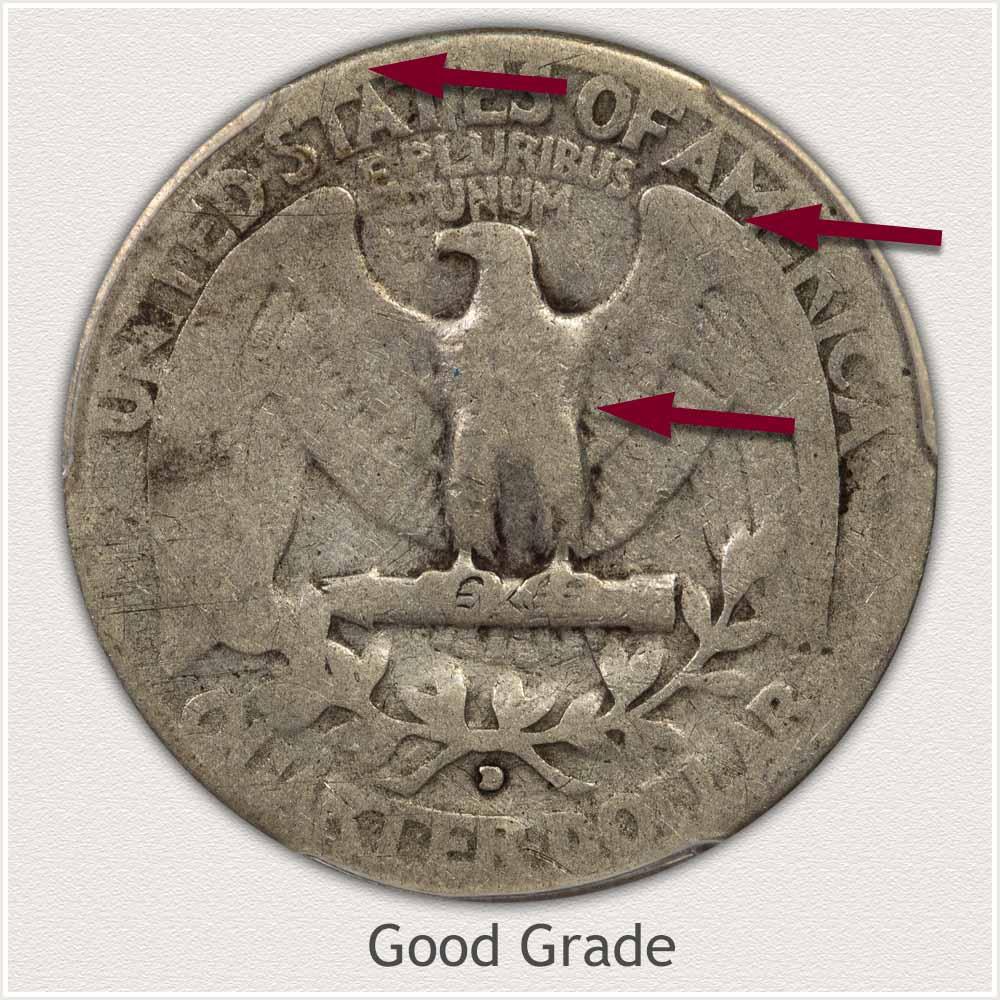 Reverse View: Good Grade Washington Quarter