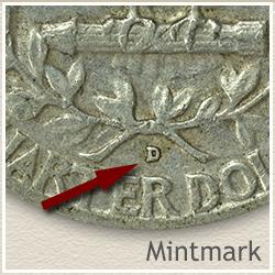 Silver Washington Quarter Mintmark Location