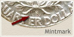 1938 Quarter -S- Mintmark
