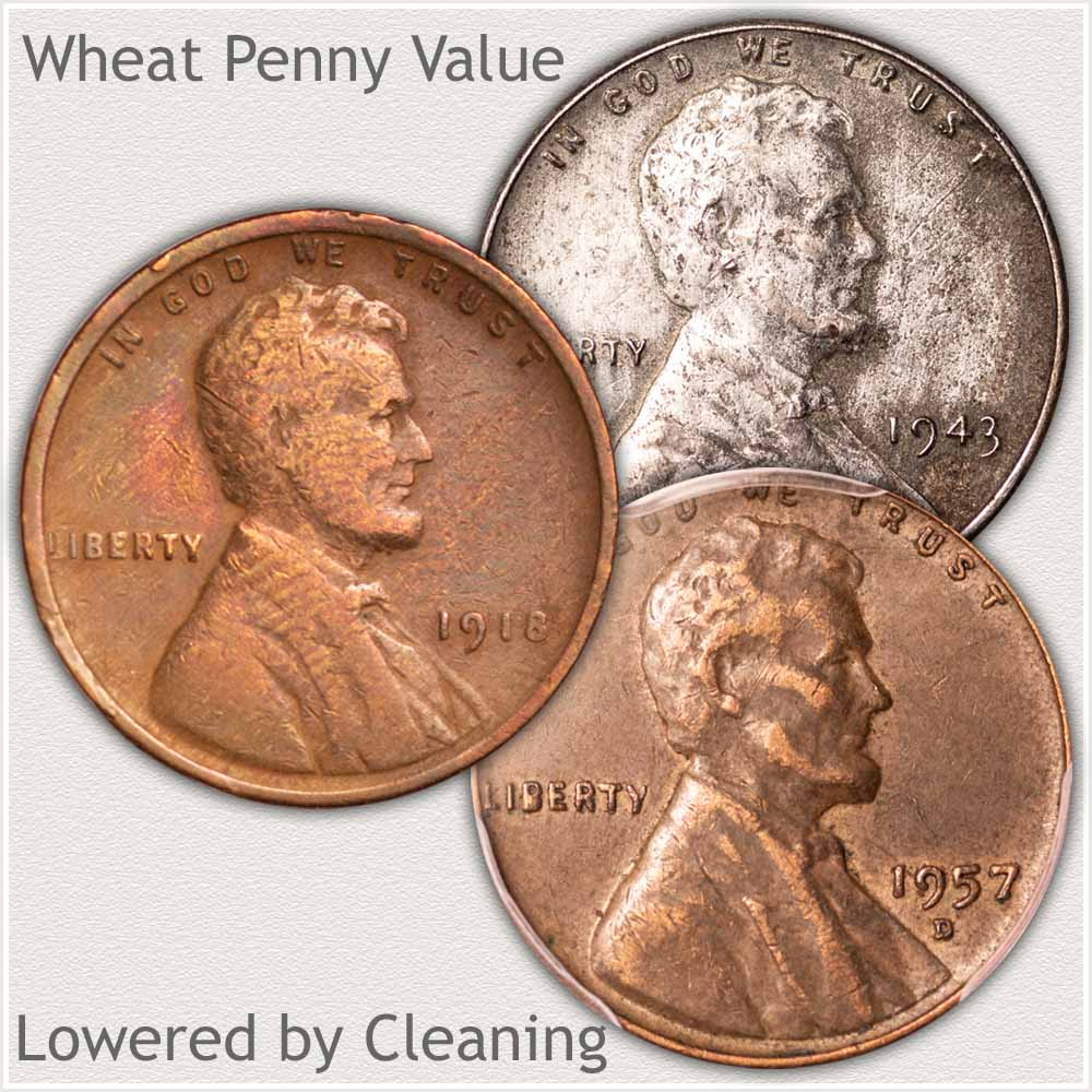 Attempts at Cleaning Wheat Pennies