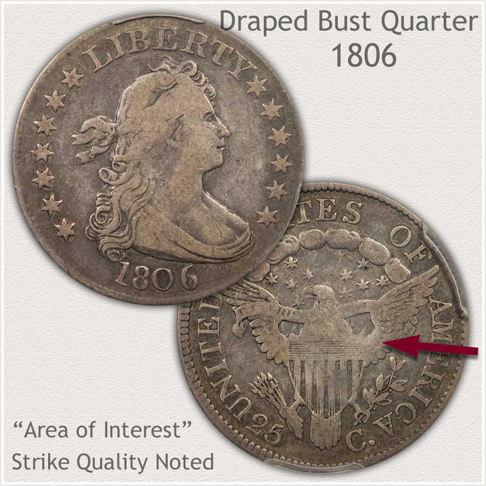 1806 Fine Grade Bust Quarter
