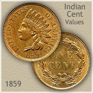 Uncirculated 1859 Indian Head Penny