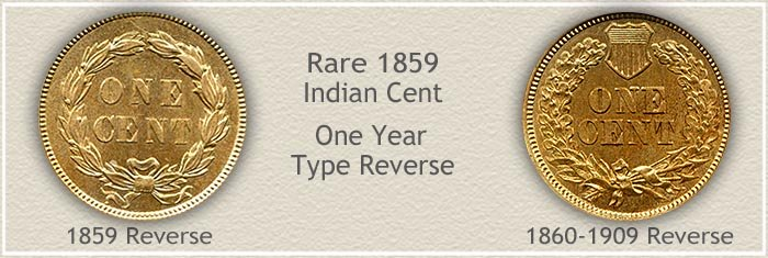 1859 Indian Penny One year Type Design
