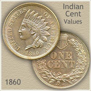 Uncirculated 1860 Indian Head Penny