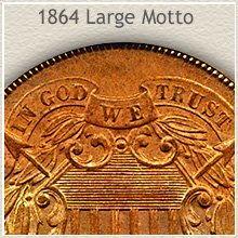 Large Motto 1864 2 Cent