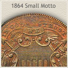 Small Motto 1864 2 Cent