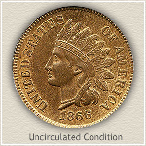 1866 Indian Head Penny Uncirculated Condition