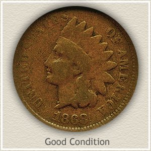 1868 Indian Head Penny Good Condition