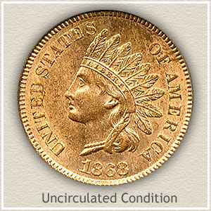 1868 Indian Head Penny Uncirculated Condition
