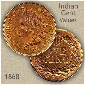 Uncirculated 1868 Indian Head Penny