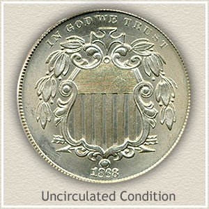 1868 Nickel Uncirculated Condition