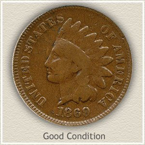 1869 Indian Head Penny Good Condition