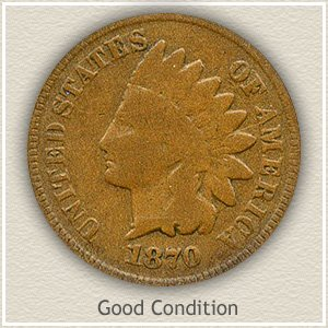 1870 Indian Head Penny Good Condition