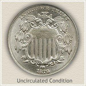 1870 Nickel Uncirculated Condition