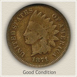1871 Indian Head Penny Good Condition