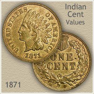 Uncirculated 1871 Indian Head Penny