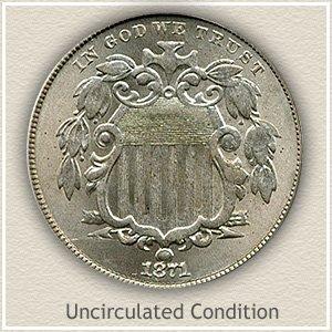 1871 Nickel Uncirculated Condition