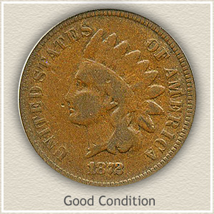 1872 Indian Head Penny Good Condition