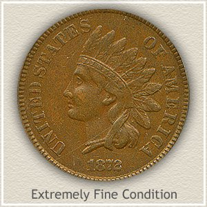 1872 Indian Head Penny Extremely Fine Condition