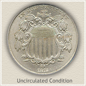 1872 Nickel Uncirculated Condition