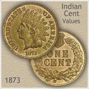 Uncirculated 1873 Indian Head Penny